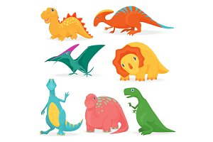 Cute cartoon dino collection.
