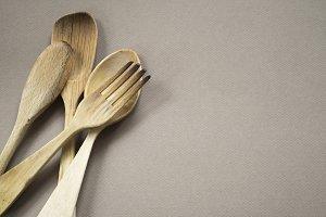 wood silverware