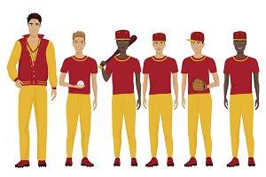 Young baseball players team