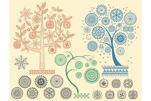 Aztecs Mayan ancient tree patterns