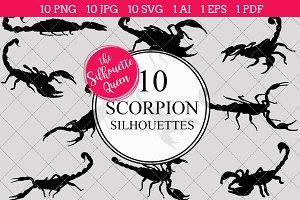 Scorpion silhouette vector graphics