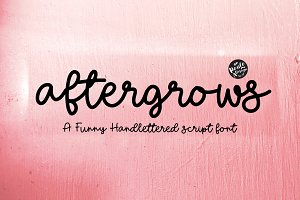 Aftergrows | Handletter Font