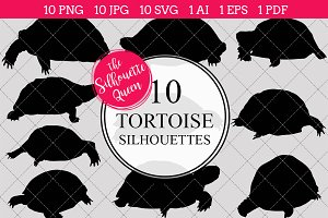 Tortoise silhouette vector graphics