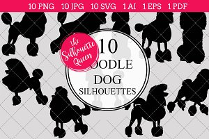 Poodle Dog silhouette vector graphic
