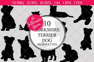 Yorkshire Terrier Dog silhouette