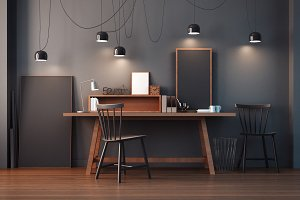 working room & modern office interio