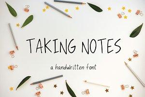 Taking Notes Sans Font