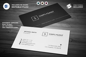 Simple Professional Business Cards