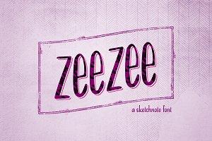 ZeeZee: A Handrawn Sketchnote Font
