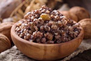 Traditional sweet meal kutia