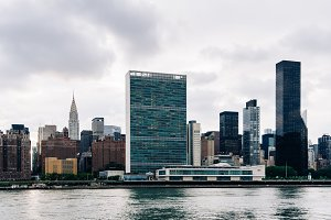 Skyline of Midtown of Manhattan in
