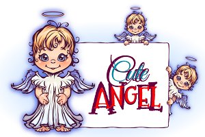 Cute cartoon angels