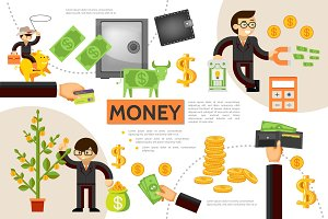 Flat finance infographic concept