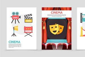 Flat cinema posters