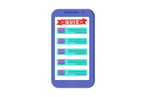 Mobile quiz application on the