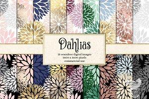 Dahlia Digital Paper