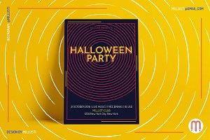 Circle ArtDeco Halloween Party Flyer