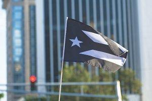 White and Black Puerto Rico Flag