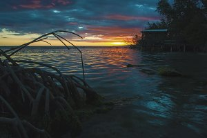 Beach Sunset South of Puerto Rico