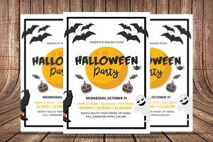 Minimal Halloween Flyer