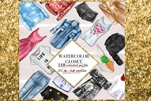 218 Watercolor fashion png