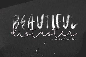 Beautiful Disaster - OTF & SVG Fonts