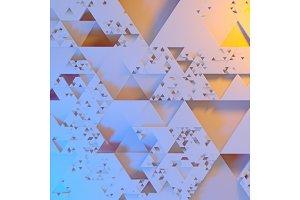 Abstract Irregular Futuristic
