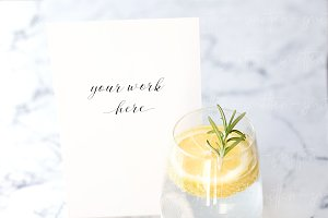 Summer Drink Menu Mockup