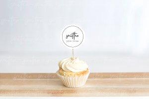 Cupcake Dessert Label Mockup