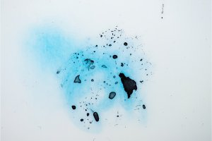 Blue paint splash isolated grunge