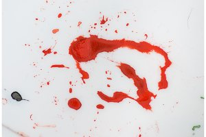 red paint splash isolated grunge