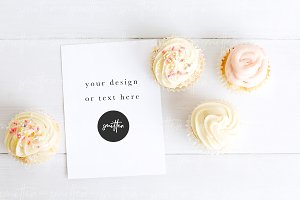 Dessert Stock Image - Card Mockup