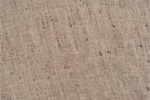 Close-up view of sackcloth texture