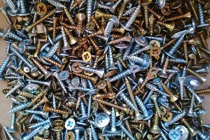 Ironmongery tapping screw background