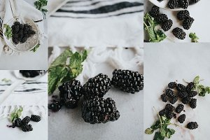 Blackberry Food Photography
