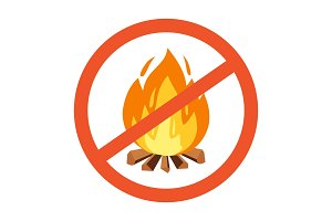 Flammable, hazard warning symbol
