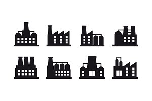 Set of industrial building symbols