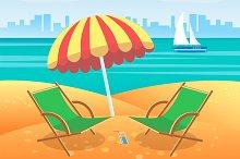 Vector summer tropical poster