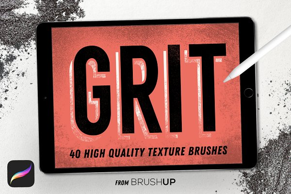 Photoshop Brushes - GRIT Texture Brushes for Procreate