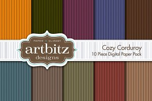 Cozy Corduroy Digital Paper