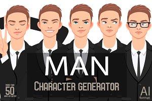 MAN CHARACTER portrait CREATOR (EPS)