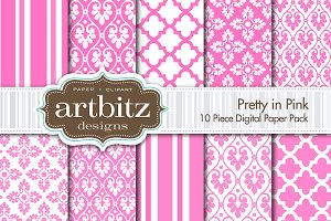 Pretty in Pink Digital Paper