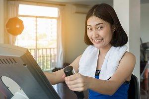 ็appy Asian woman are exercise