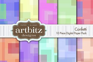 Confetti 10 Piece Digital Paper