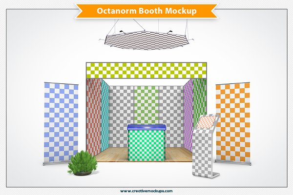 Octanorm Booth Mockup PSD Mockup - Free Mockups and Templates PSD