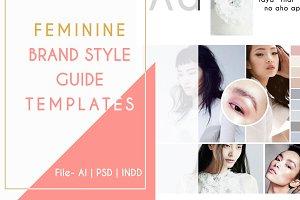 Feminine Brand Mood Board Templates