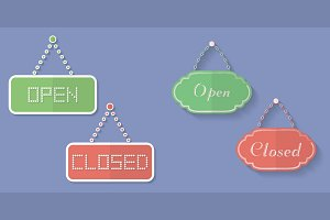 Signs of Open and Closed.