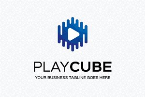 Play Cube Logo Template