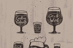 Sketch Craft Alcoholic Drinks Set