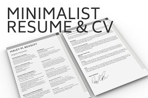 Minimalist Resume & Cover Letter